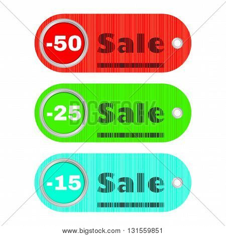Vector set with bar code label sales