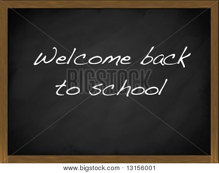 Welcome Back To School Blackboard