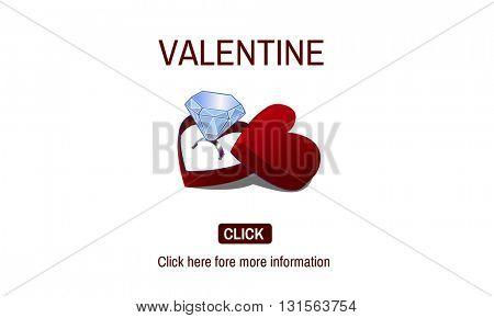 Valentine Engagement Ring Couple Love Concept