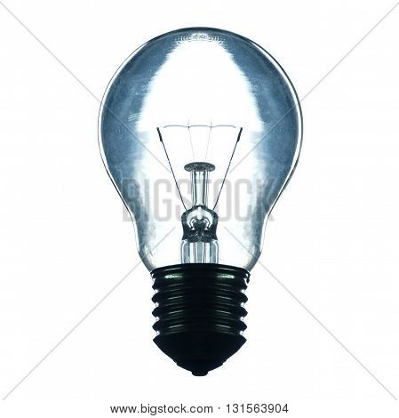 a light bulb with back light isolated on white background