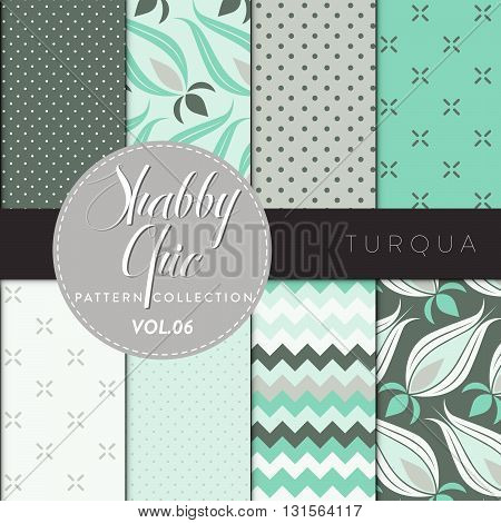 Shabby Chic Pattern Collection - Turqua