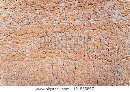 Cracked mud wall texture in Taneka Koko village, Benin, Africa