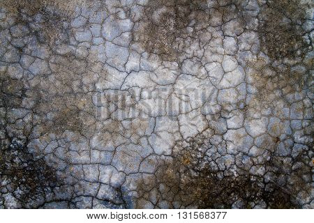Unique texture or backgrounds of cracked cemented wall.