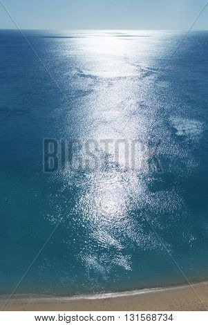 Water background tropical beach high angle view travel or summer concept