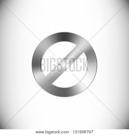 The steel icon representing block button for web or mobile devices.