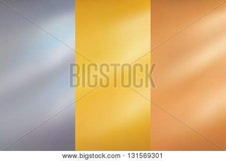 Abstract background gold yellow silver grey bronze illustration vector