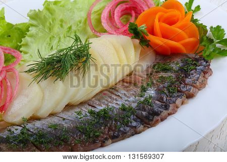 Herring With Potato And Onion