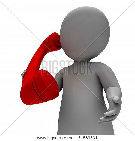 Call Phone Represents Calling Correspond And Render 3D Rendering