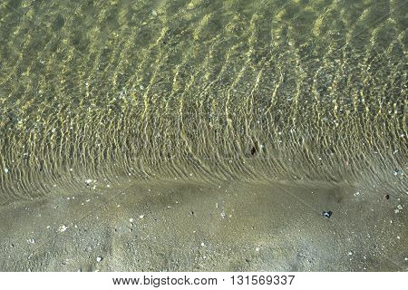 Sand and water by the sea for background