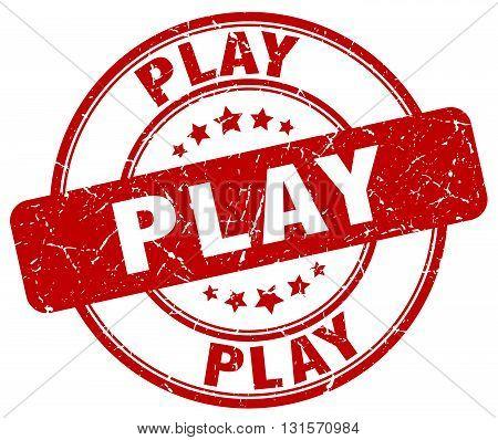 play red grunge round vintage rubber stamp.play stamp.play round stamp.play grunge stamp.play.play vintage stamp.