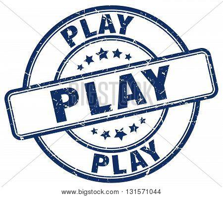 play blue grunge round vintage rubber stamp.play stamp.play round stamp.play grunge stamp.play.play vintage stamp.