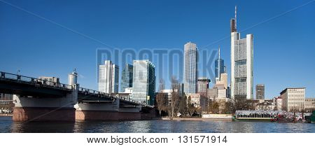 FRANKFURT AM MAIN, GERMANY - JANUARY 06, 2012: View of the city of the Frankfurt on Main