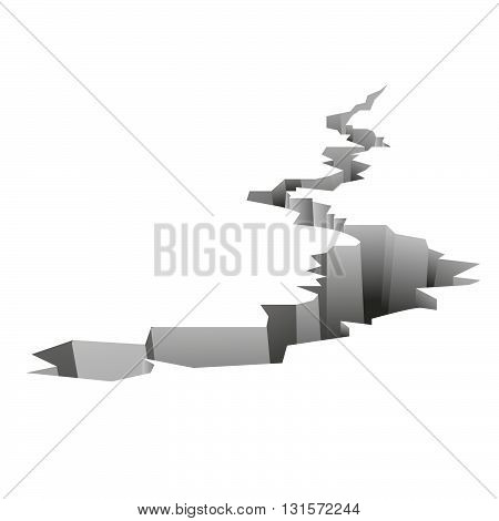Earthquake background cover for business in bankrupt