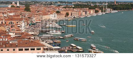 ITALY, VENICE - JUNE 27, 2013: View of Riva degli Schiavoni in Venice
