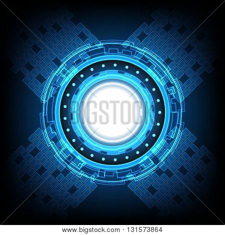 Abstract Circle Technology Background Vector Illustration
