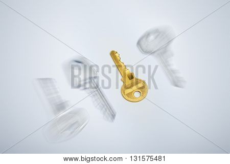 Business real estate concept image. Focusing on golden key to success