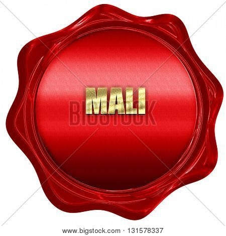 Mali, 3D rendering, a red wax seal