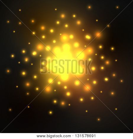 Abstract vector background. Bright dots. Space. Vector illustration. EPS 10.