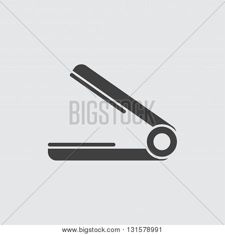 Hair straightener icon illustration isolated vector sign symbol
