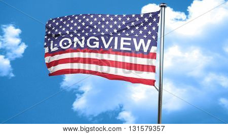 longview, 3D rendering, city flag with stars and stripes