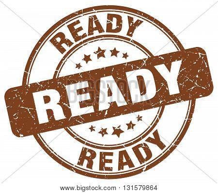 ready brown grunge round vintage rubber stamp.ready stamp.ready round stamp.ready grunge stamp.ready.ready vintage stamp.