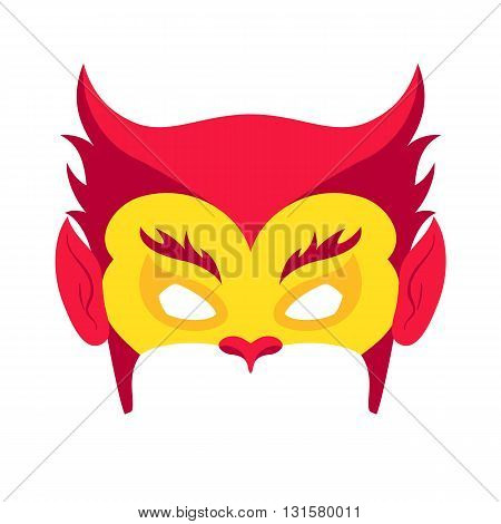 Super hero red mack. Superhero mask for face character in flat style. Masks of heroic, savior or superhero. Comic super hero mask vector illustration. Super hero photo props. Super hero face. Spider