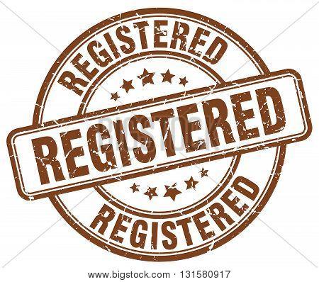 registered brown grunge round vintage rubber stamp.registered stamp.registered round stamp.registered grunge stamp.registered.registered vintage stamp.