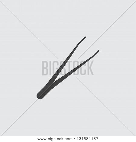 Tweezers icon illustration isolated vector sign symbol