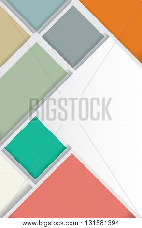 Design template for flyer or brochure made from squares. Vector illustration