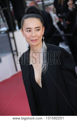 CANNES, FRANCE - MAY 19: Naomi Kawase attends the 'Graduation (Bacalaureat)' Premiere during the 69th annual Cannes Film Festival at the Palais des Festivals on May 19, 2016 in Cannes, France.