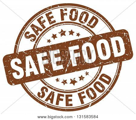 safe food brown grunge round vintage rubber stamp.safe food stamp.safe food round stamp.safe food grunge stamp.safe food.safe food vintage stamp.