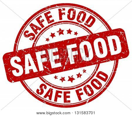 safe food red grunge round vintage rubber stamp.safe food stamp.safe food round stamp.safe food grunge stamp.safe food.safe food vintage stamp.