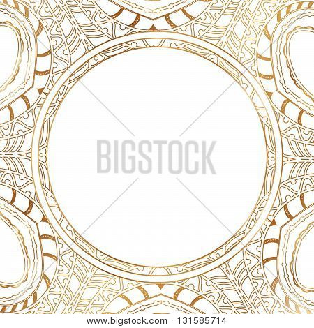 Round lace border frame silhouettes. Can be used for decoration and design photo frame menu card scrapbook album. Vector Illustration.