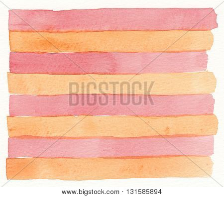 orange red stripe pattern geometric abstract watercolor background
