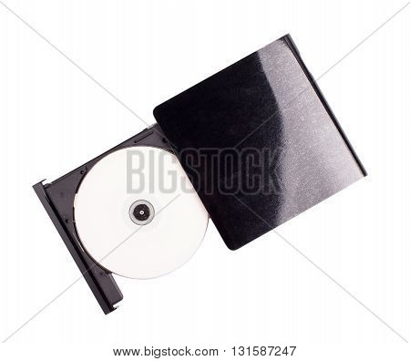 The drive for disks on a white background