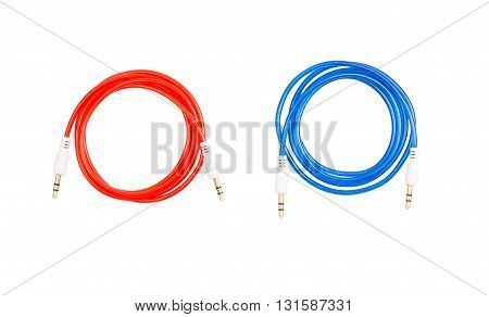 Audio cable Jack color on a white background