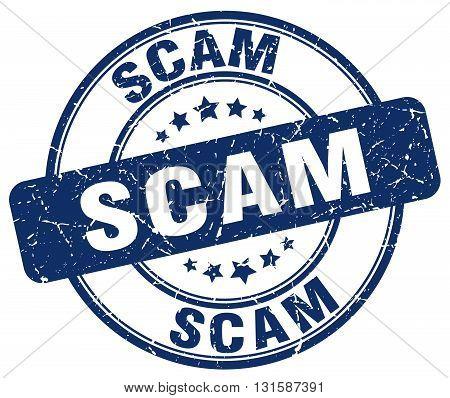 scam blue grunge round vintage rubber stamp.scam stamp.scam round stamp.scam grunge stamp.scam.scam vintage stamp.