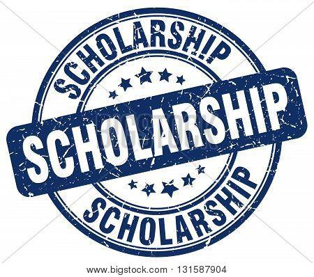 scholarship blue grunge round vintage rubber stamp.scholarship stamp.scholarship round stamp.scholarship grunge stamp.scholarship.scholarship vintage stamp.
