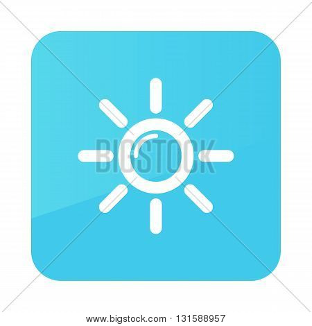 Sun outline icon. Meteorology. Weather. Vector illustration eps 10
