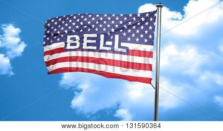bell, 3D rendering, city flag with stars and stripes