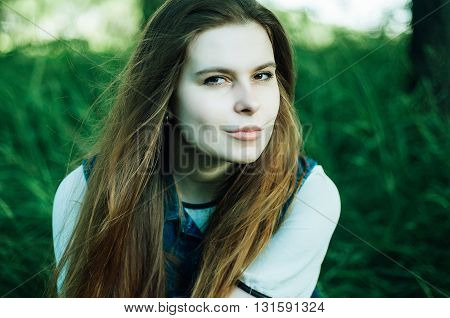 Summer Fashion Portrait Of Glamour Sensual Young Stylish Lady We
