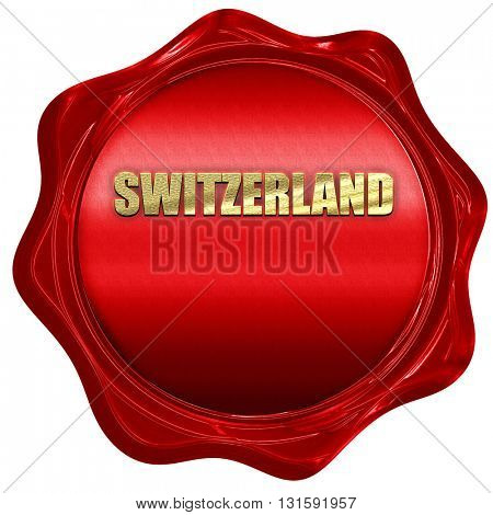 switerzland, 3D rendering, a red wax seal