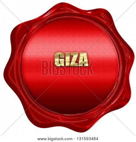 giza, 3D rendering, a red wax seal