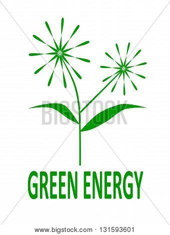 Modern green energy logo - vector illustration.