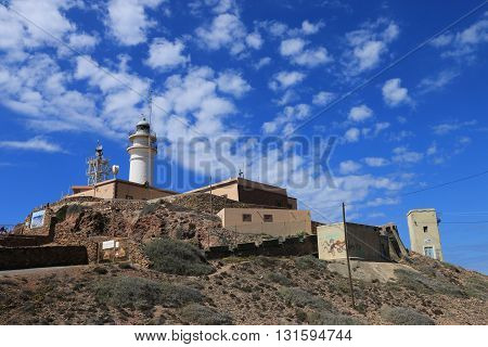 Lighthouse(Headlight) of Cabo de Gata-Nijar's natural reserve, Andalusia, Spain