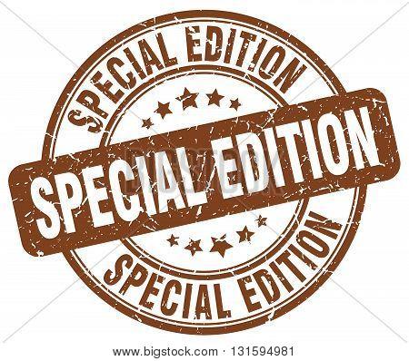 special edition brown grunge round vintage rubber stamp.special edition stamp.special edition round stamp.special edition grunge stamp.special edition.special edition vintage stamp.