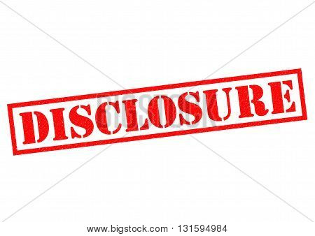 DISCLOSURE red Rubber Stamp over a white background.