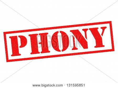 PHONY red Rubber Stamp over a white background.