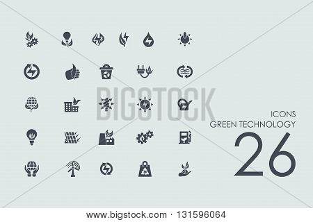 green technology vector set of modern simple icons