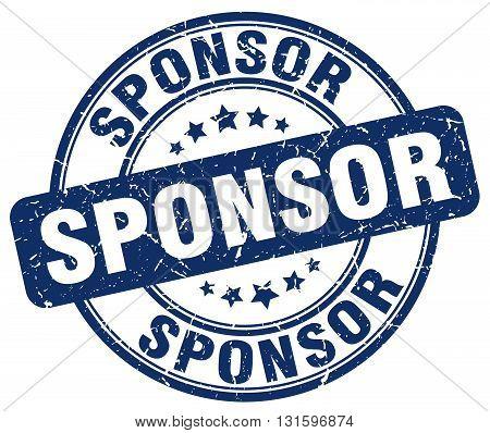 sponsor blue grunge round vintage rubber stamp.sponsor stamp.sponsor round stamp.sponsor grunge stamp.sponsor.sponsor vintage stamp.